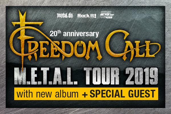 Freedom Call announce M.E.T.A.L. Tour 2019!